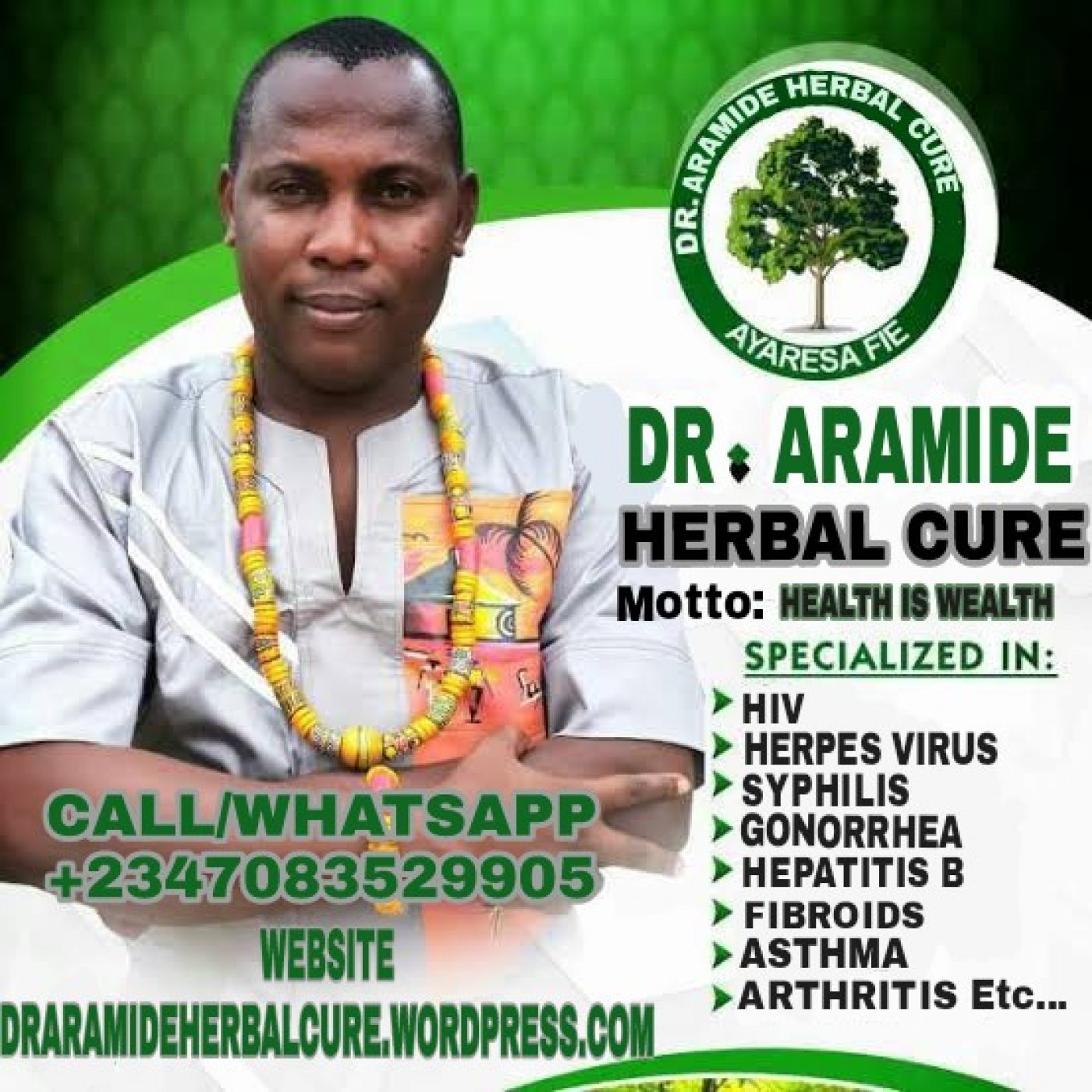 Cured Of Hiv By Herbalist Dr  Aramide With Herbal Medicine